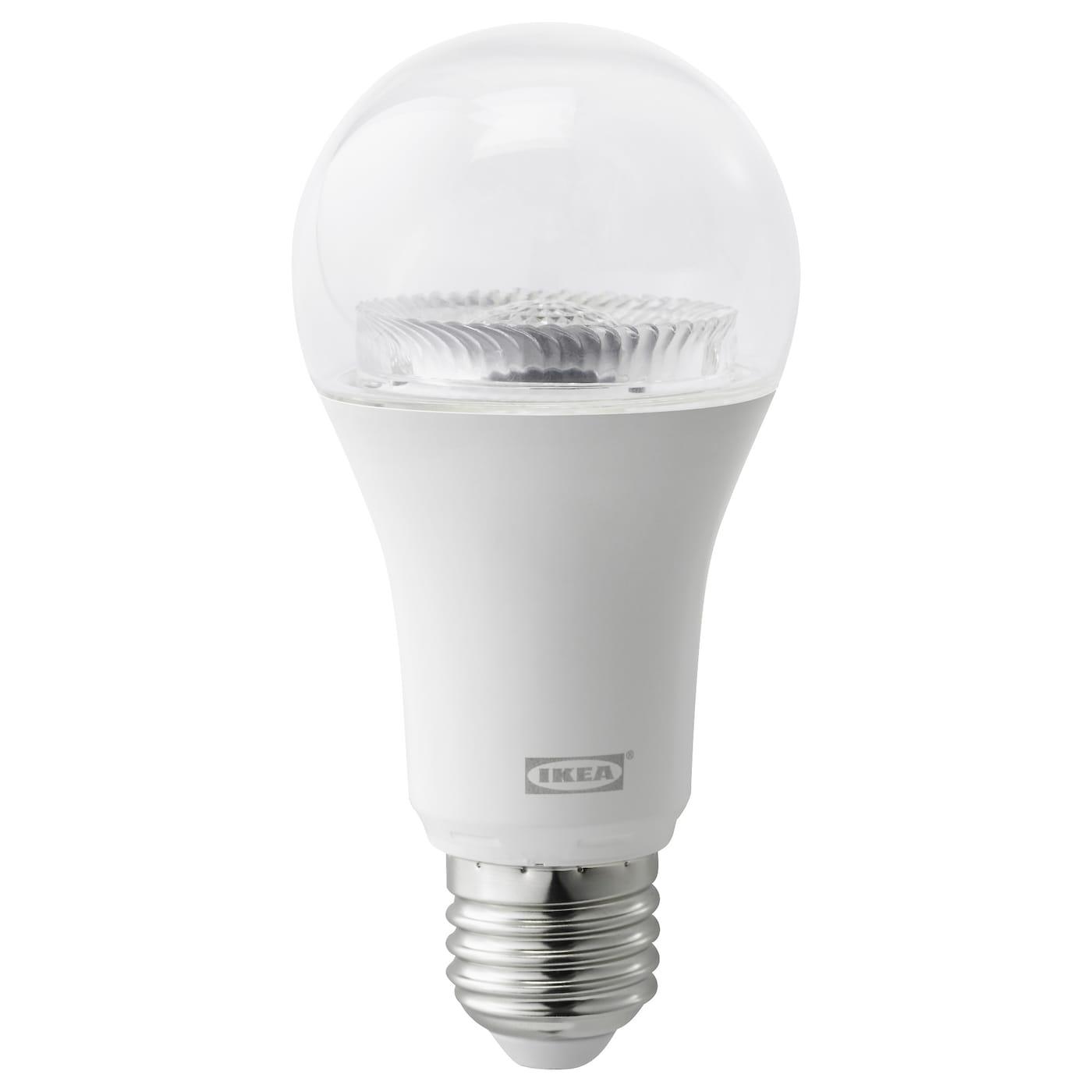 tr dfri led bulb e27 950 lumen wireless dimmable white spectrum clear ikea. Black Bedroom Furniture Sets. Home Design Ideas