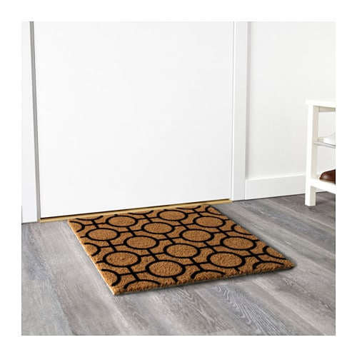IKEA TRAMPA door mat Easy to keep clean - just vacuum or shake the rug.