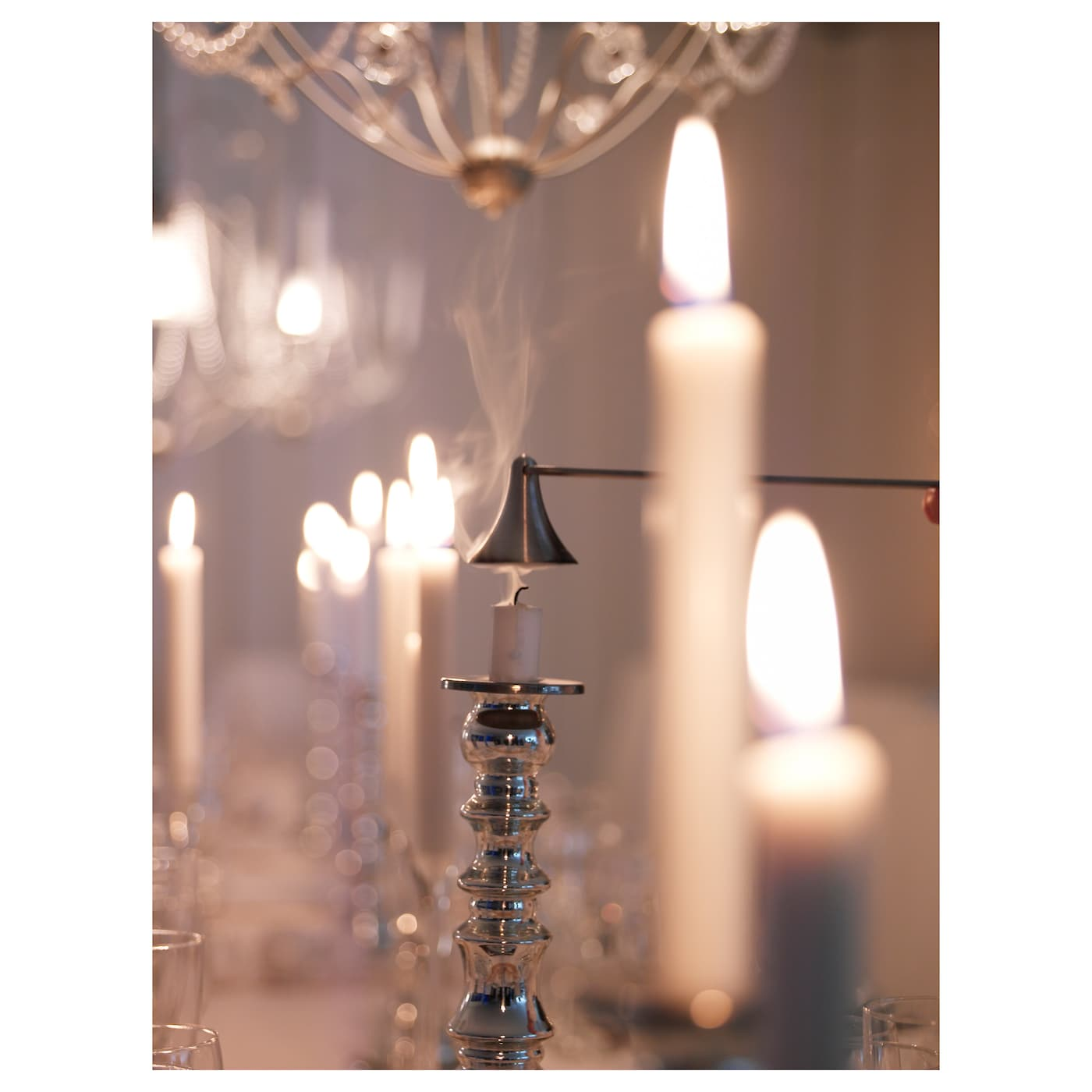 IKEA TRATT candle snuffer Put candles out safely, without splashing or sooting.