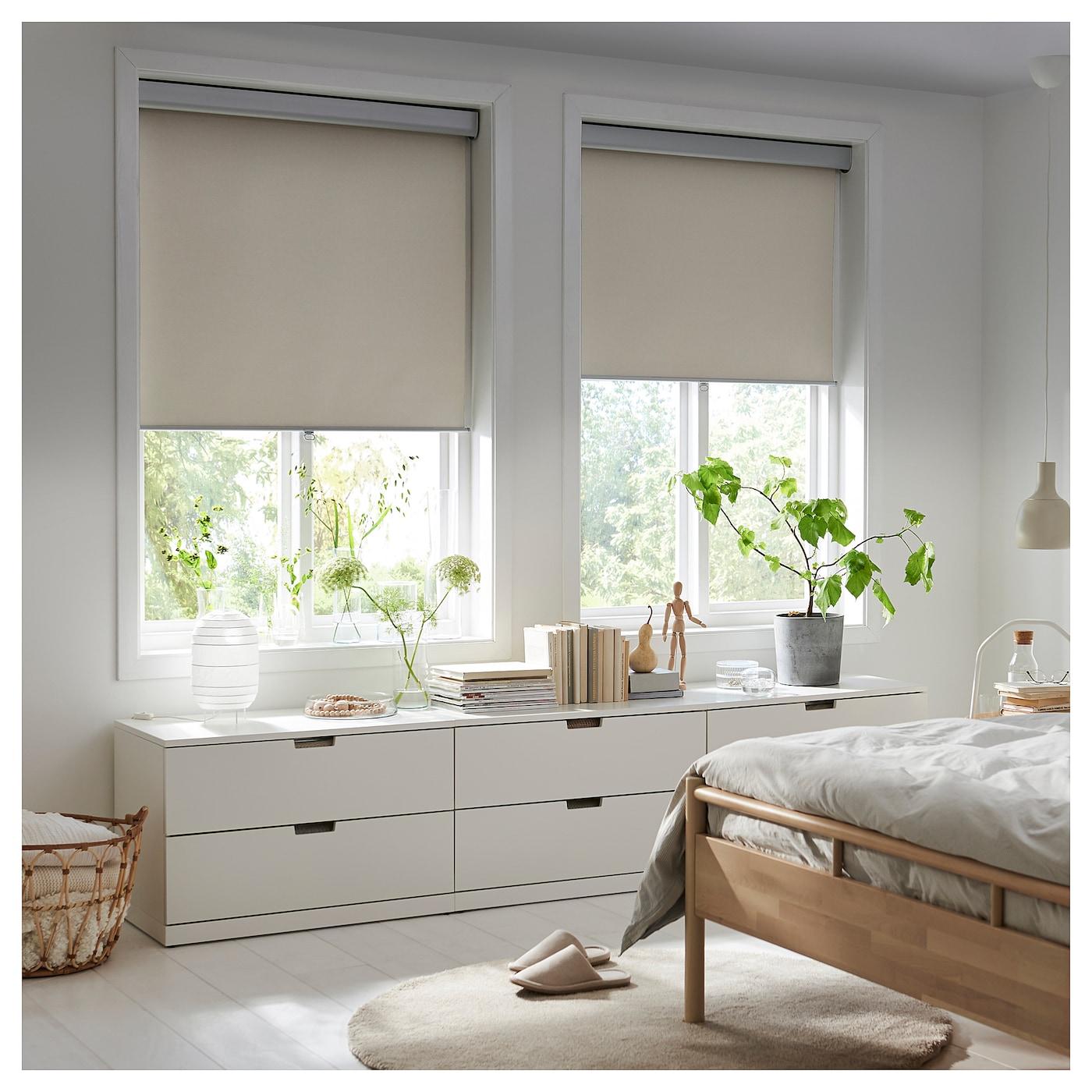 tretur block out roller blind beige 80 x 195 cm ikea. Black Bedroom Furniture Sets. Home Design Ideas