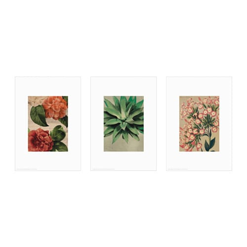 IKEA TRILLING poster, set of 3 You can personalise your home with artwork that expresses your style.