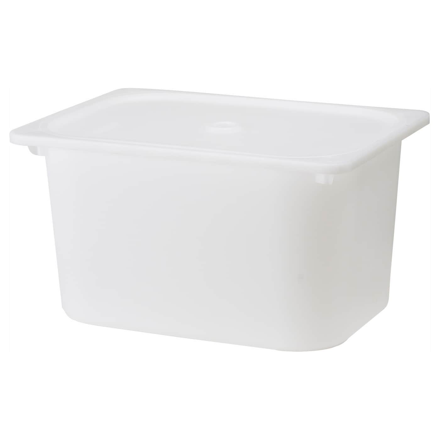 IKEA TROFAST box with lid Can be stacked when completed with a lid.