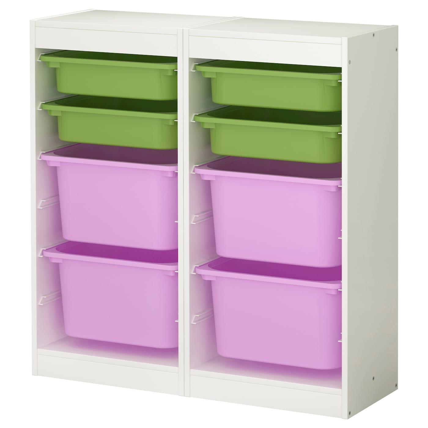 trofast storage combination white multicolour 92x30x94 cm ikea. Black Bedroom Furniture Sets. Home Design Ideas