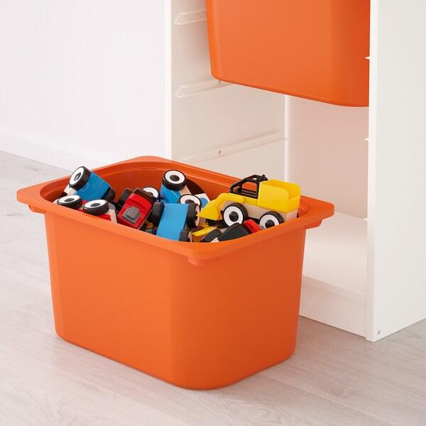 TROFAST storage combination with boxes white/yellow orange 46 cm 30 cm 145 cm