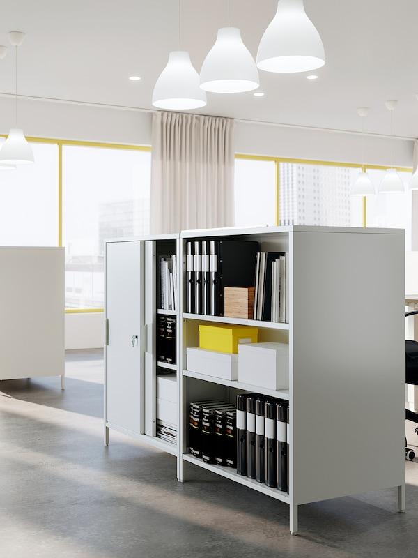 TROTTEN / SKARSTA Desk sit/stand, white, 120x70 cm
