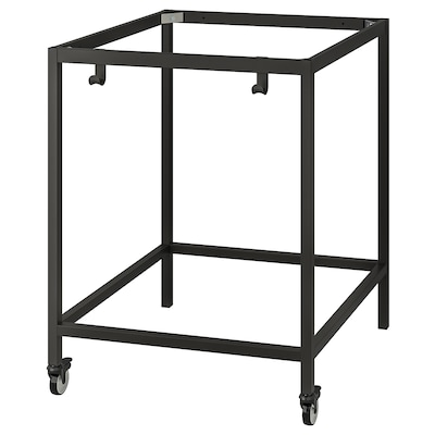TROTTEN Underframe for table top, anthracite, 80x80x100 cm