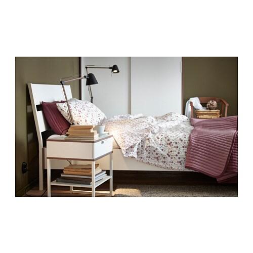Trysil bedside table white light grey 45x40 cm ikea