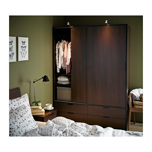 Ideas For Ikea Pax Wardrobe ~ IKEA TRYSIL wardrobe w sliding doors 4 drawers Smooth running drawers