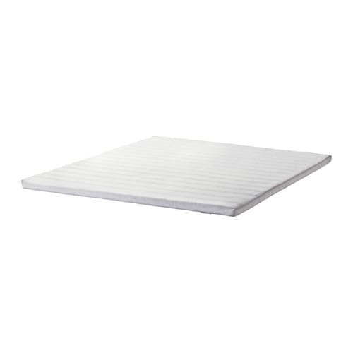 IKEA TUDDAL mattress topper Easy to bring home since it is roll packed.