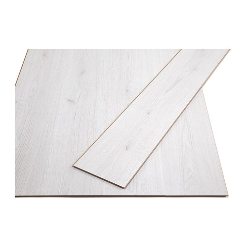 IKEA TUNDRA laminated flooring Flooring with click system is easy to lay; no adhesive required.