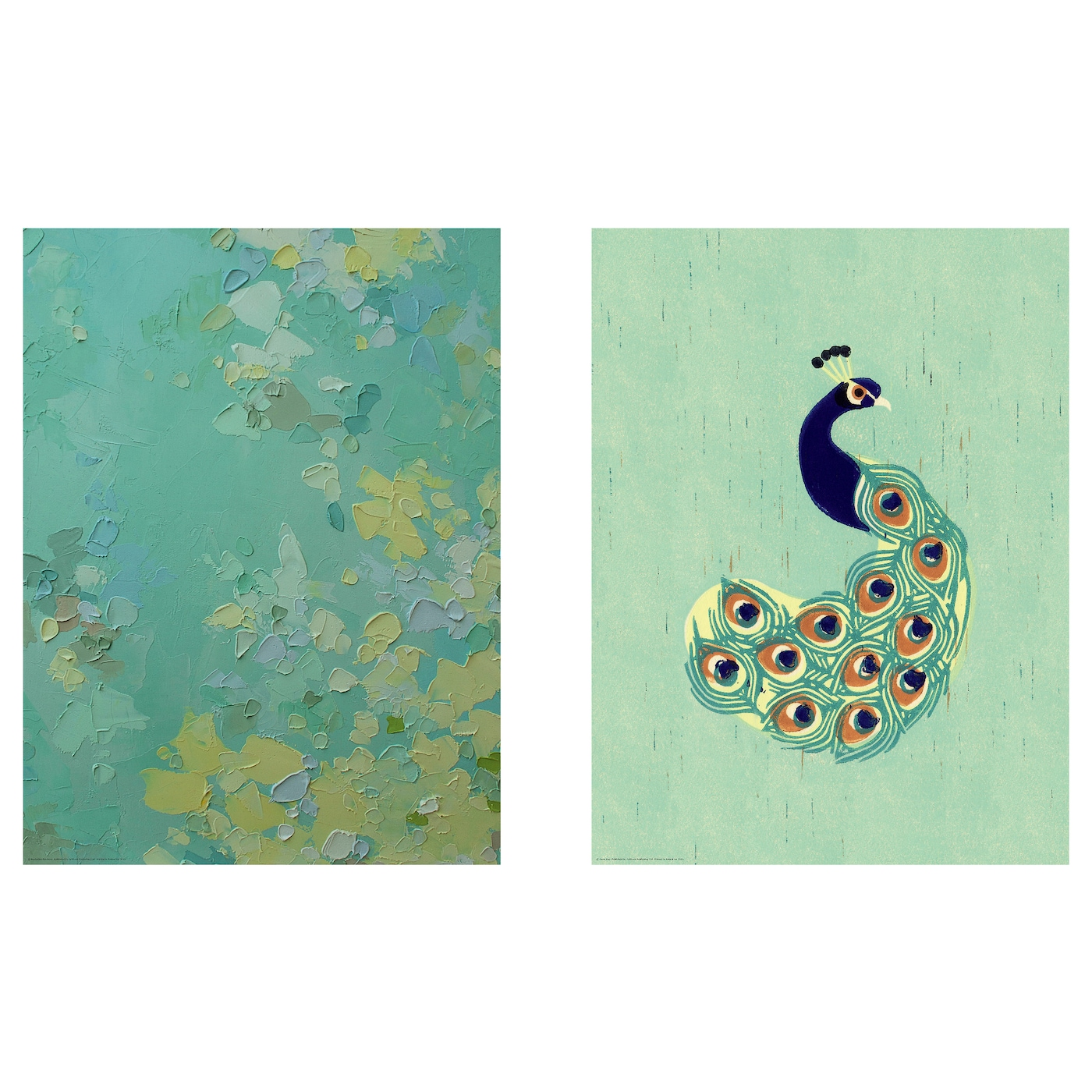 Tvilling poster set of 2 green variations 30x40 cm ikea for Weltkarte poster ikea
