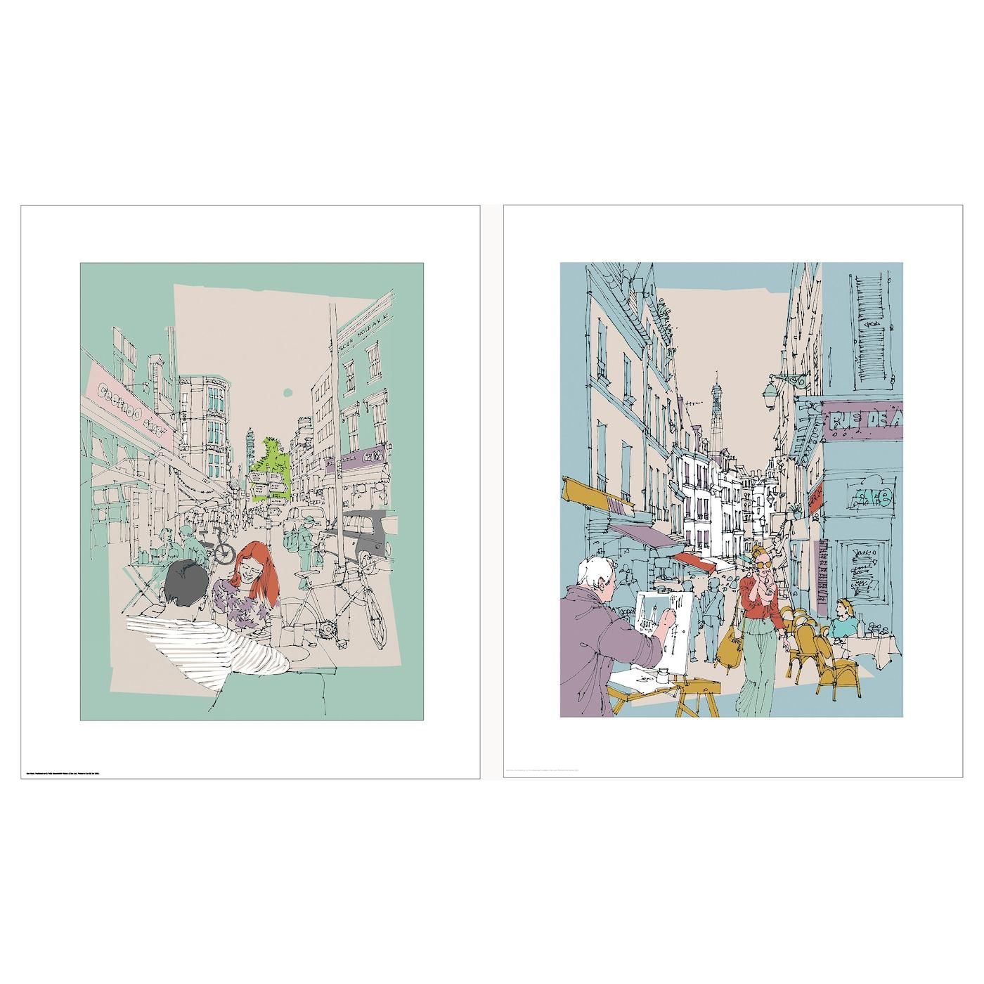 Tvilling poster set of 2 hinterland london 40x50 cm ikea for Poster londra ikea