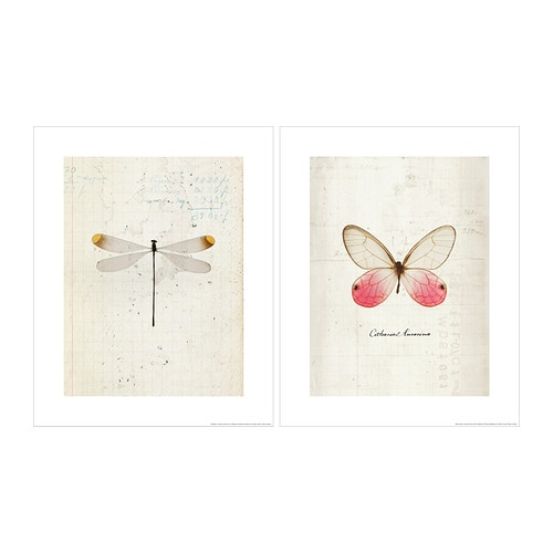 TVILLING Poster, set of 2 IKEA Motif created by Emiko Franzen.  Coherent picture theme; a simple way to create a collage.