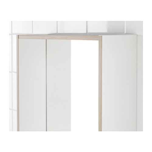 Tyngen mirror with shelf white ash effect 40x50 cm ikea for Miroir 40x50