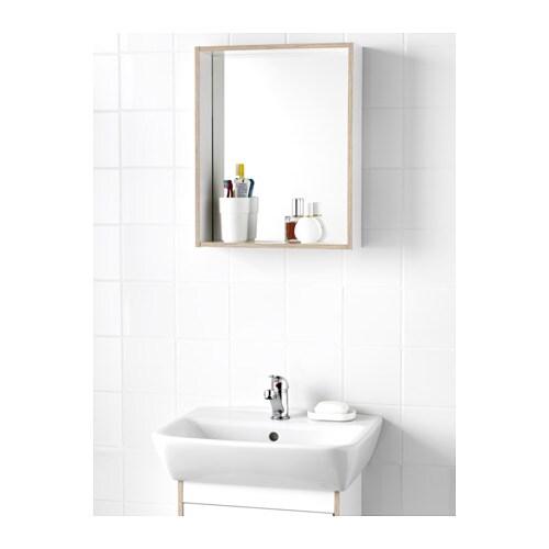 TYNGEN Mirror with shelf White ash effect 40x50 cm IKEA
