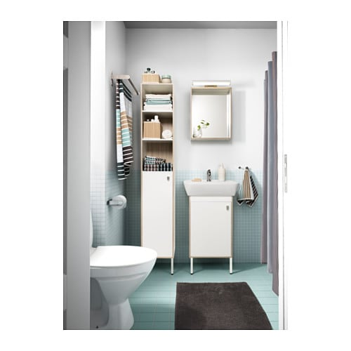 ikea bathroom mirror with shelf tyngen mirror with shelf white ash effect 40x50 cm ikea 23511