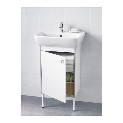 white bathroom sink cabinet tyngen washbasin cabinet with 1 door white 51x40x88 cm ikea 21443