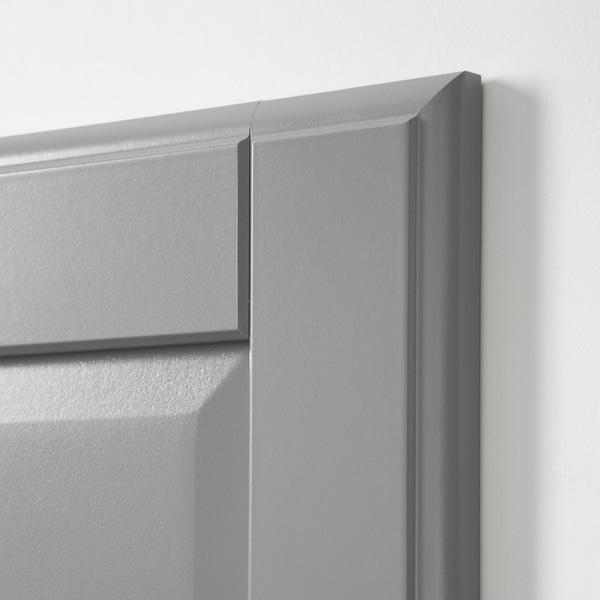 TYSSEDAL door with hinges grey 50 cm 195 cm 1.9 cm