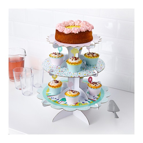 IKEA UDDIG cake stand, set of 3 Combine and stack as you want.