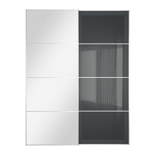 uggdal auli pair of sliding doors mirror glass grey glass pe s4