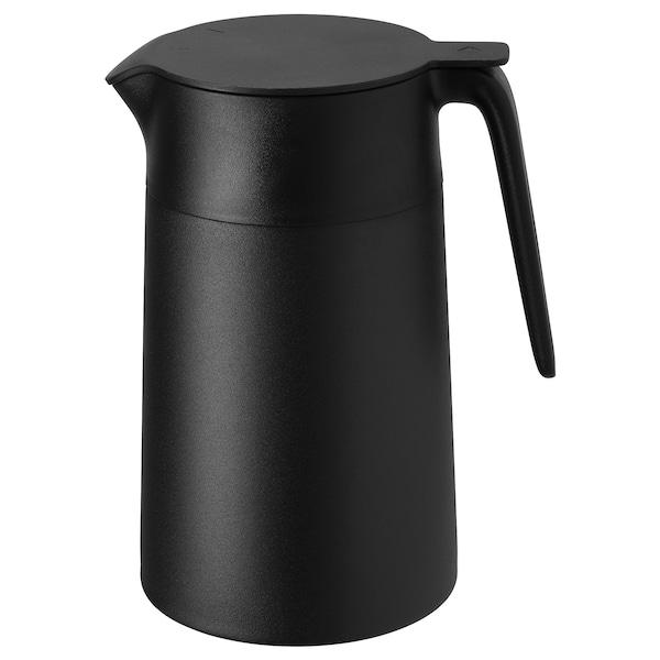 UNDERLÄTTA Vacuum flask, black, 1.2 l