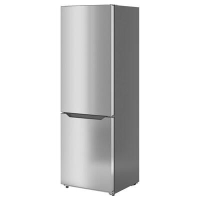 UPPKALLA Fridge/freezer, IKEA 300 freestanding/stainless steel colour, 216/95 l