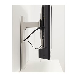 Uppleva bracket for tv swivel light grey 37 55 ikea - Comment cacher les fils de la tv accrochee au mur ...