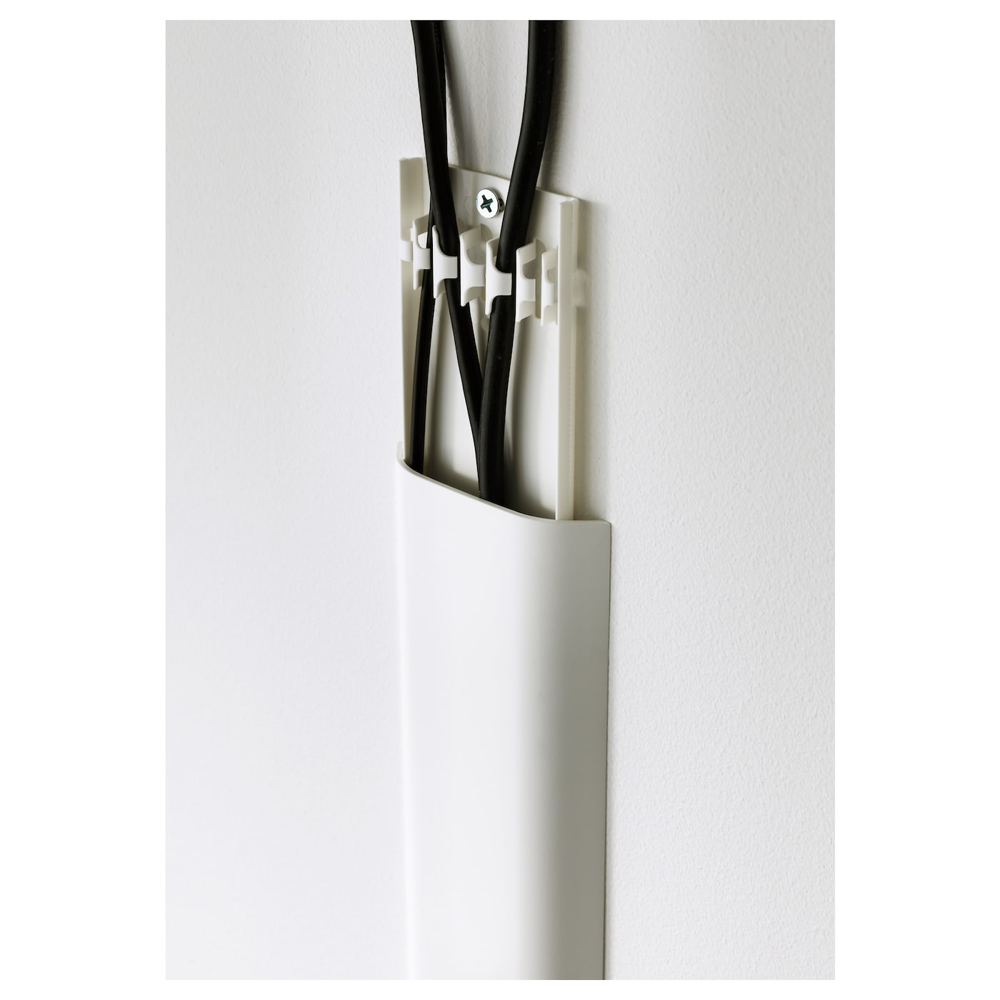 IKEA UPPLEVA cable cover strip Can be painted or covered with wallpaper to match your walls.
