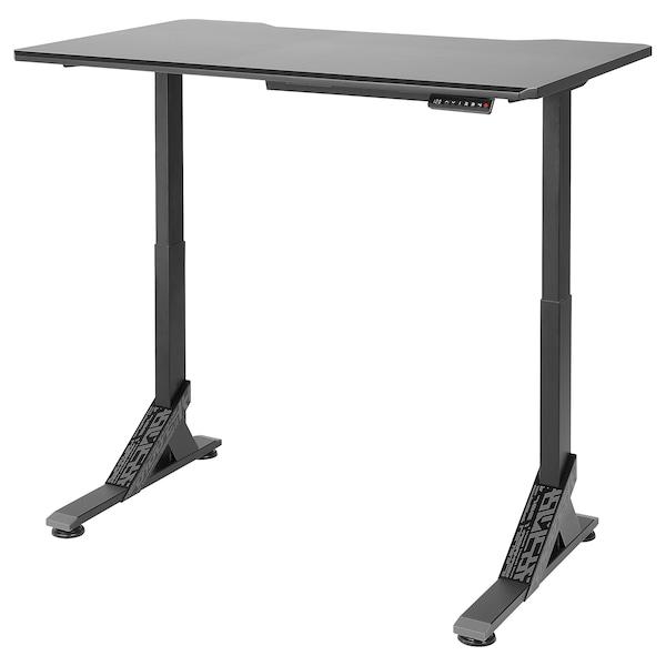 UPPSPEL Gaming desk, black, 140x80 cm