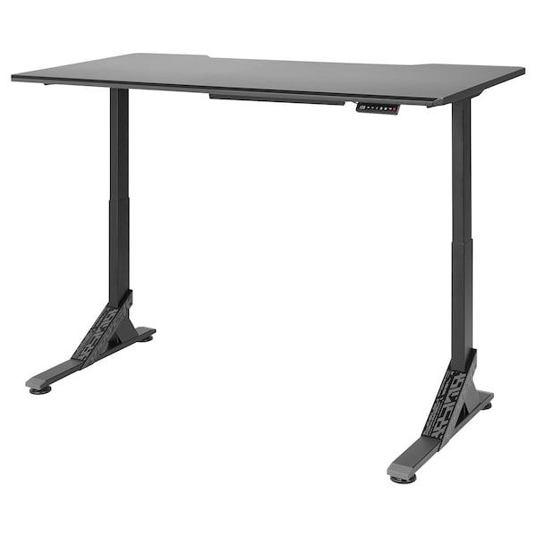 UPPSPEL Gaming desk, black, 180x80 cm