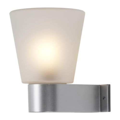 UTÅS Wall lamp IKEA Frosted glass gives glare-free general light.