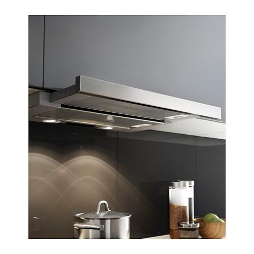 Utdrag built in extractor hood stainless steel 60 cm ikea - Ikea hotte aspirante ...