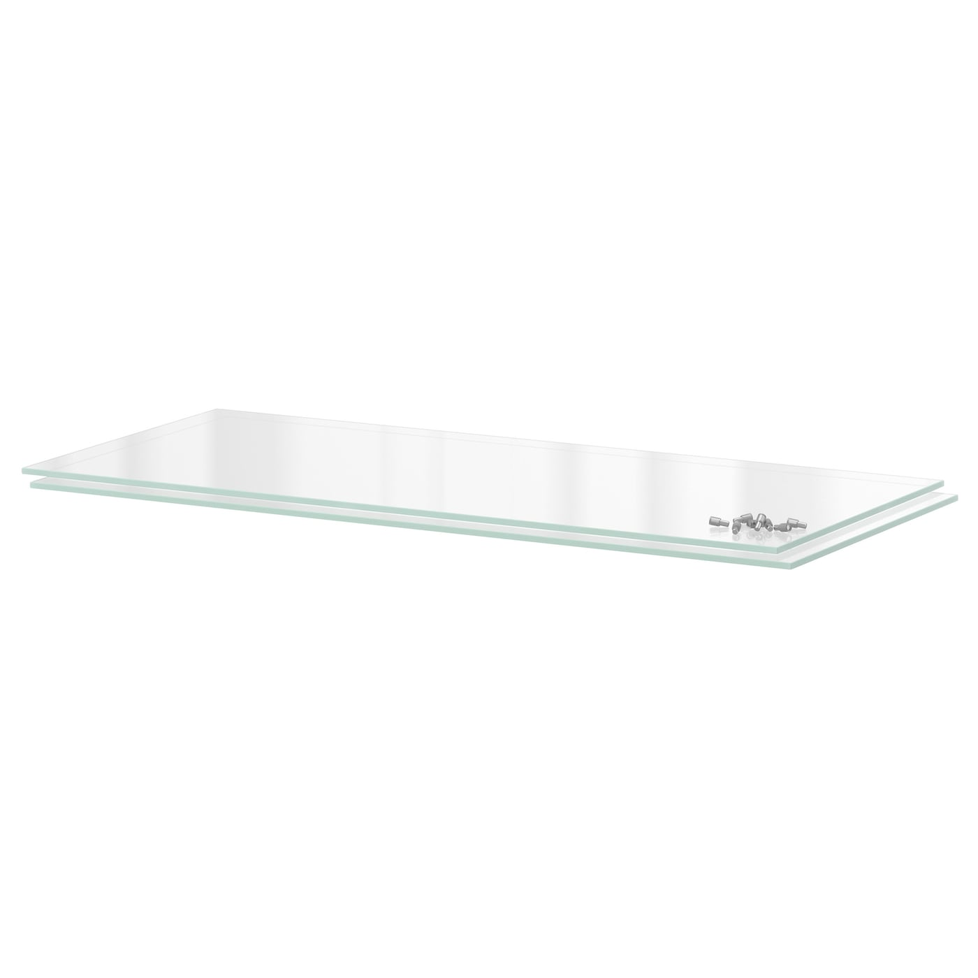 IKEA UTRUSTA shelf The tempered glass surface is easy to clean.