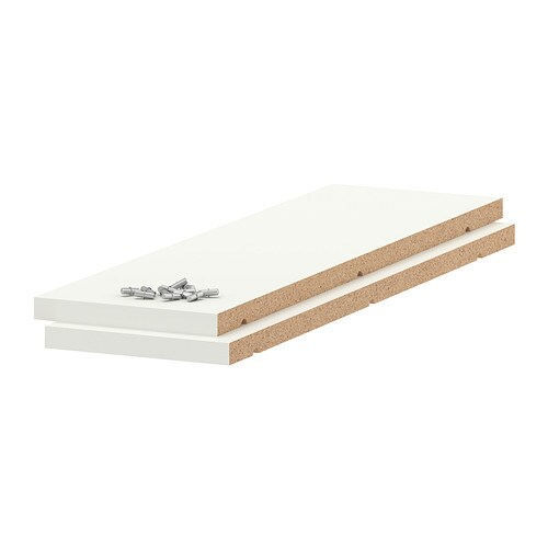 IKEA UTRUSTA shelf Shelf in melamine with a scratch-resistant surface that's easy to clean.