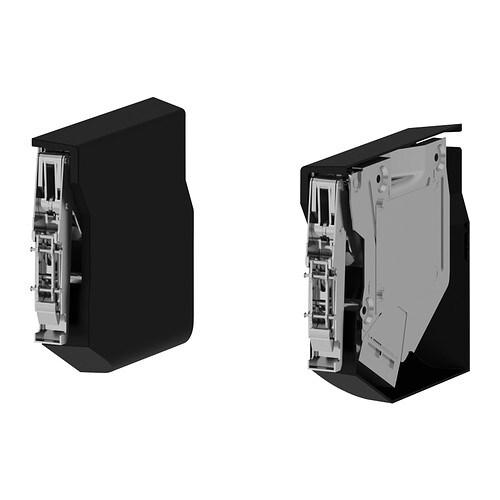 Utrusta Small Hinge For Horizontal Door Black Ikea