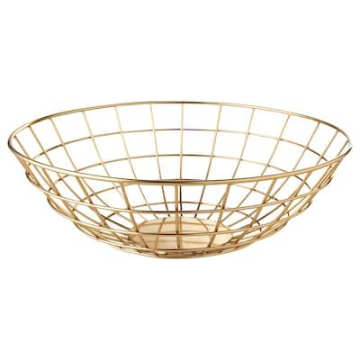 UTVÄNDIG decorative bowl brass-colour 10 cm 32 cm