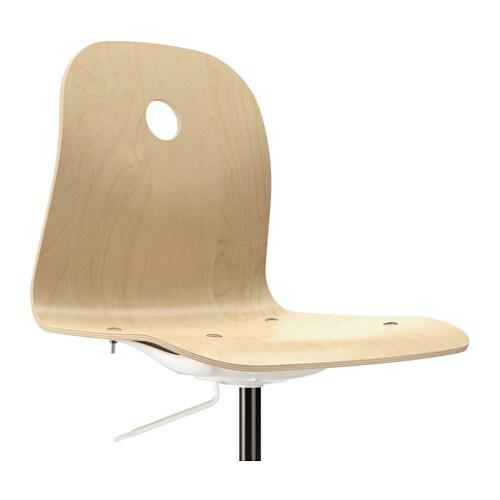 v gsberg sporren swivel chair birch veneer white ikea