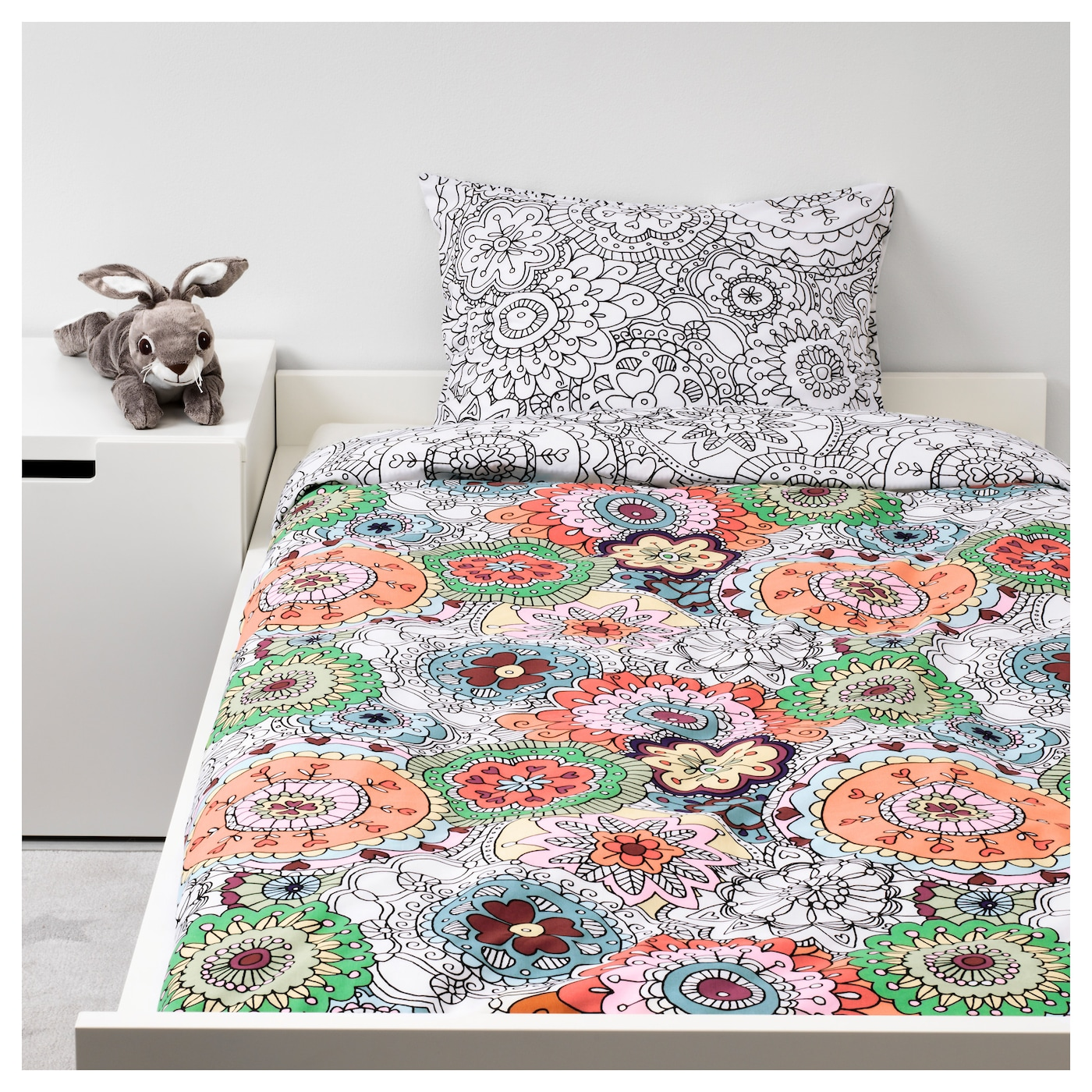 v nskaplig quilt cover and pillowcase multicolour 150x200. Black Bedroom Furniture Sets. Home Design Ideas