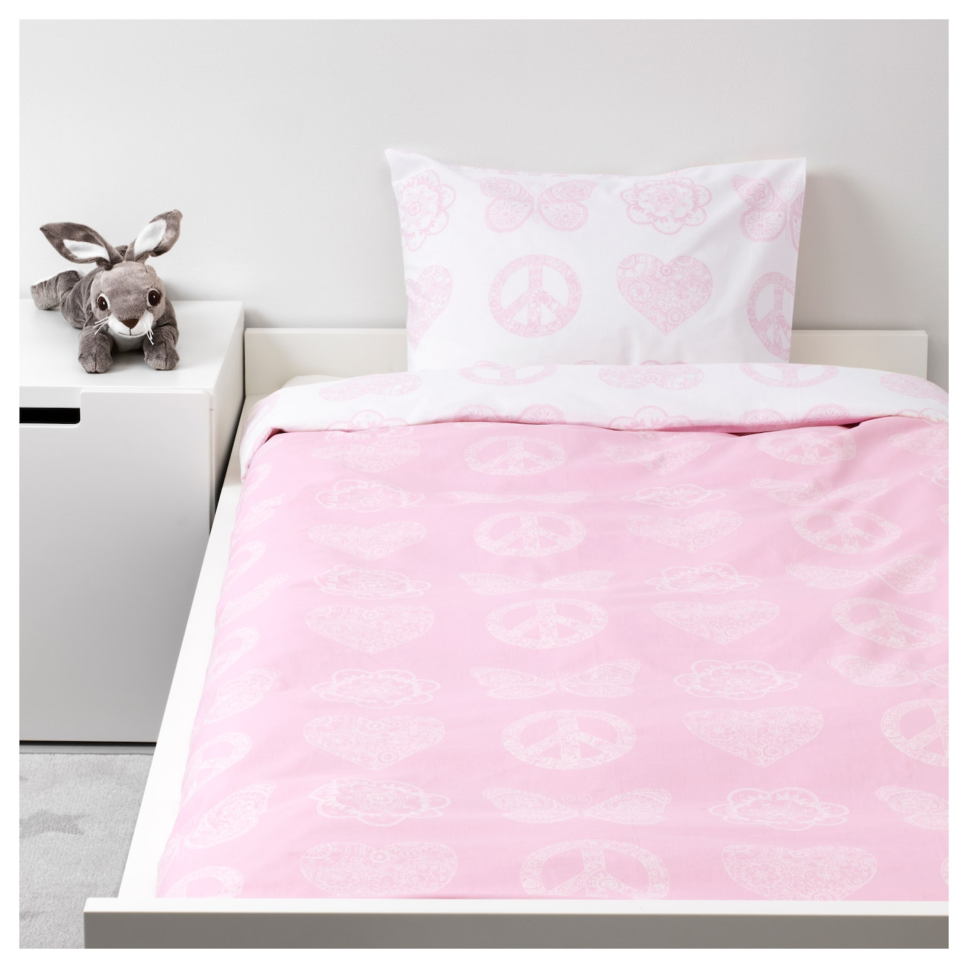 IKEA VÄNSKAPLIG quilt cover and pillowcase Cotton, soft and nice against your child's skin.