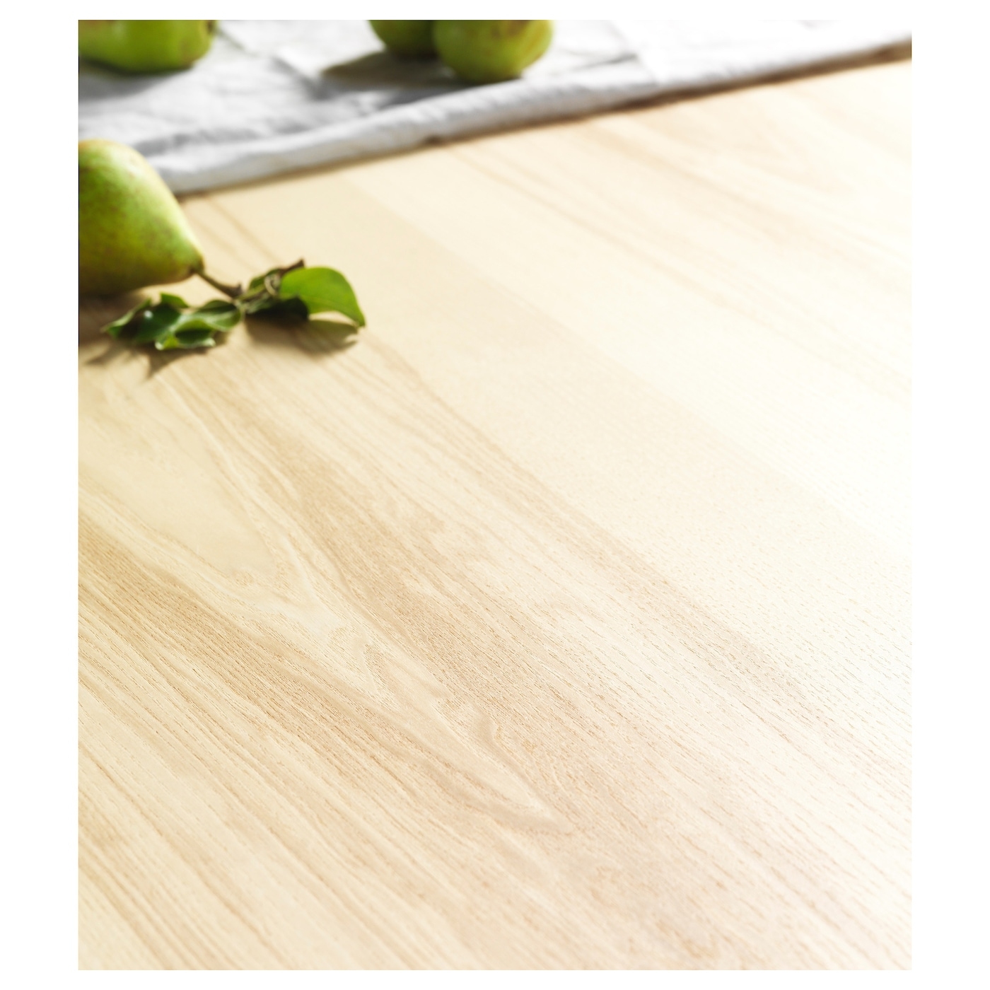 IKEA VÄSSAD bench Ash veneer is stain resistant and easy to keep clean.