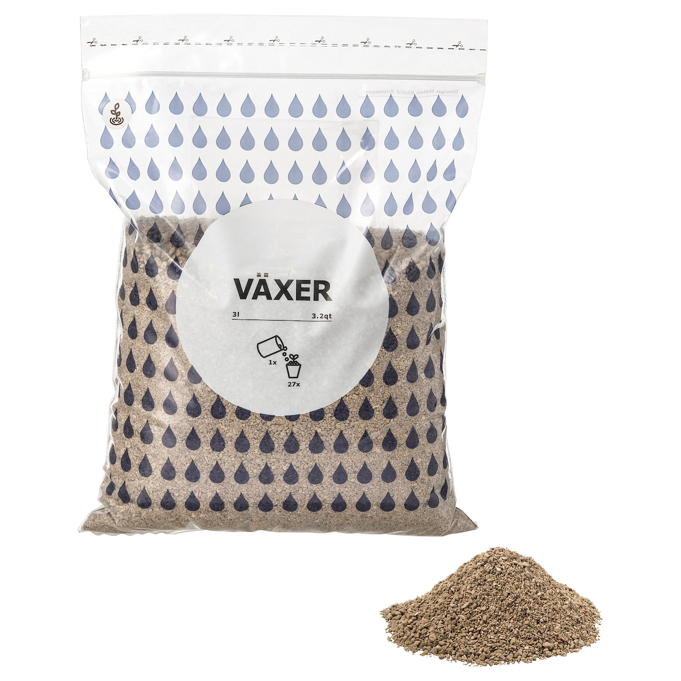 IKEA VÄXER growing media Pumice stones are perfect for hydroponic growing.