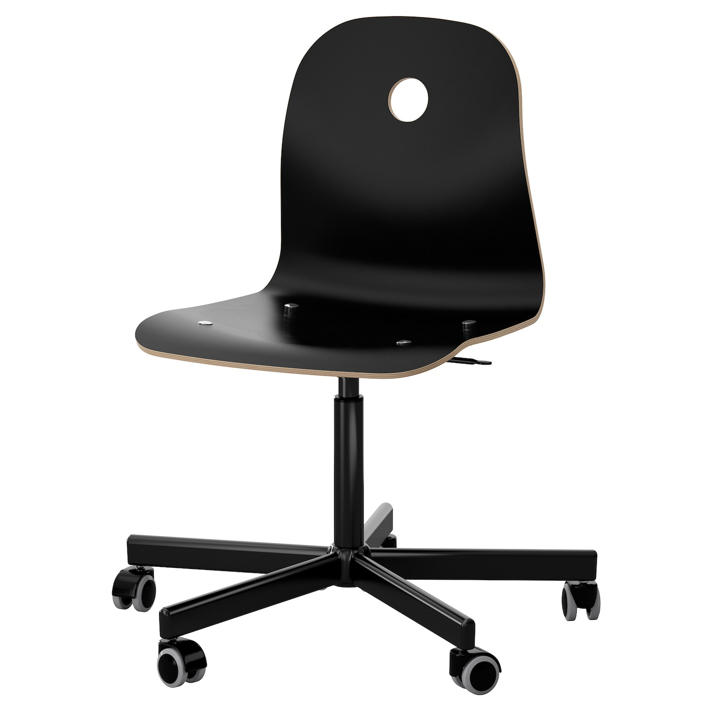 IKEA VÅGSBERG/SPORREN swivel chair You sit comfortably since the chair is adjustable in height.