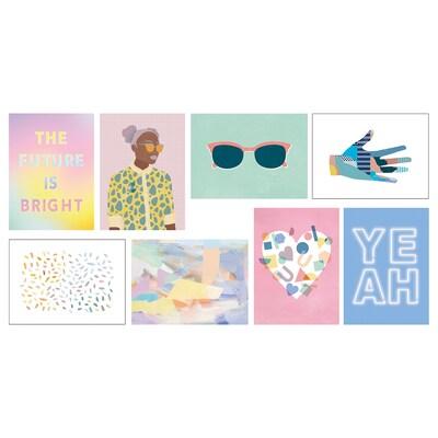 VÄXBO art card The future is bright 13 cm 18 cm 8 pack