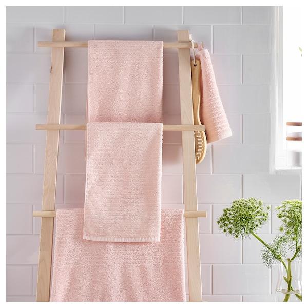 VÅGSJÖN bath towel pale pink 140 cm 70 cm 0.98 m² 400 g/m²
