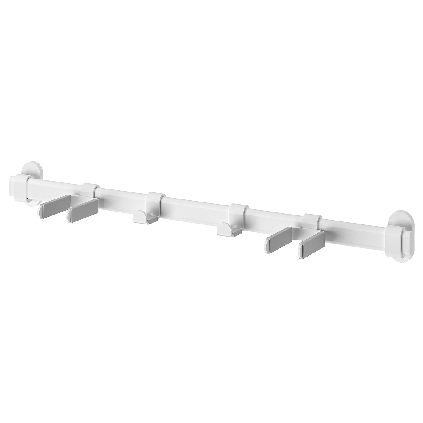 IKEA VAJERT rail with 4 hooks, in-/outdoor Suitable for both indoor and outdoor use.