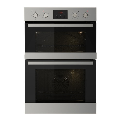 VALFRI Double oven with forced air IKEA 5 year guarantee.   Read about the terms in the guarantee brochure.