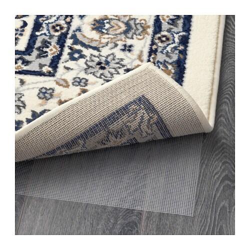 VALLBY Rug Low Pile Beigeblue 170x230 Cm IKEA