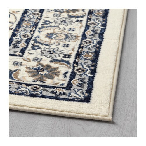 Vall 214 By Rug Low Pile Beige Blue 133x195 Cm Ikea