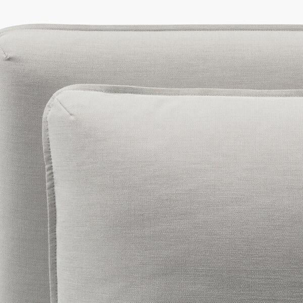 VALLENTUNA 2-seat modular sofa with sofa-bed, and storage/Ramna light grey