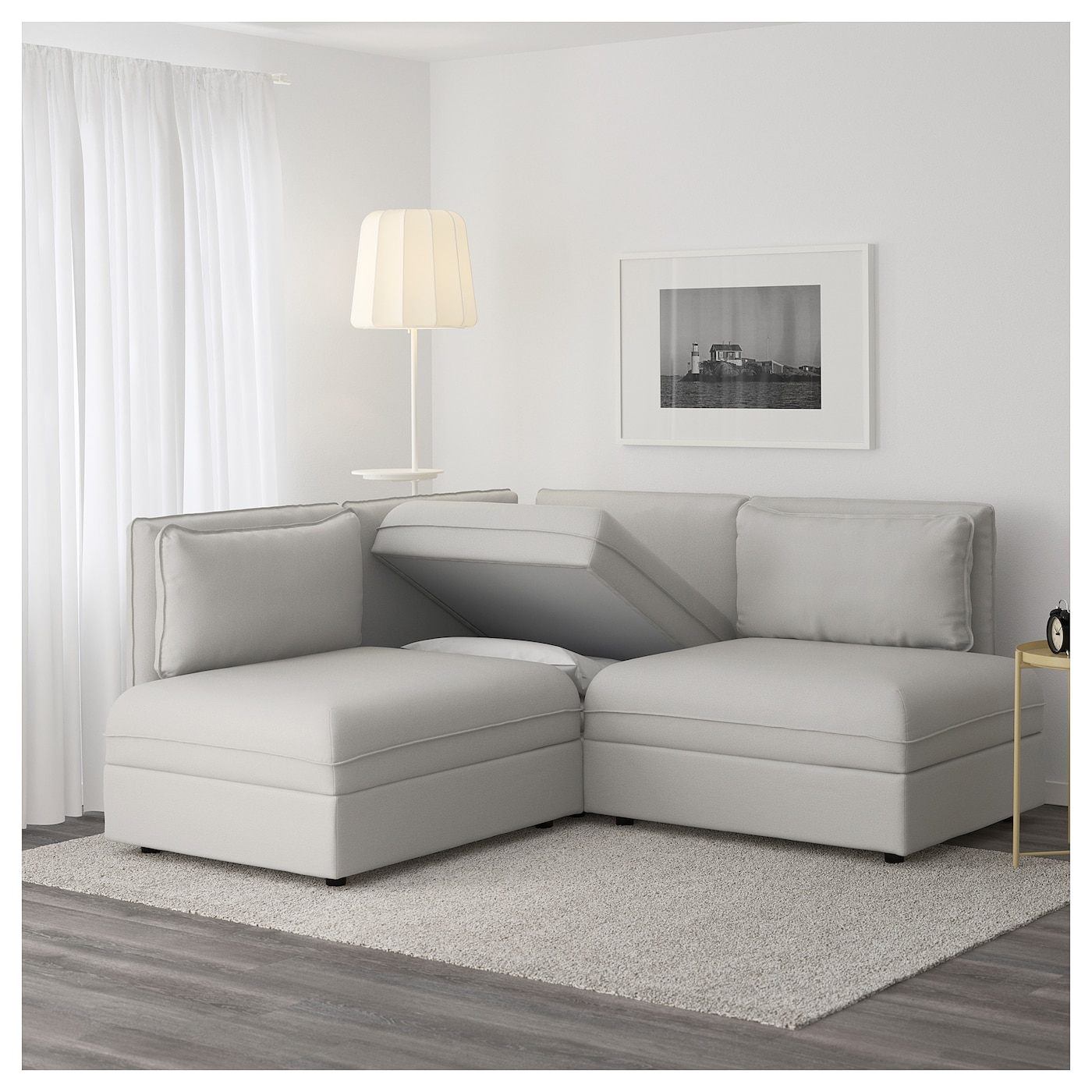IKEA VALLENTUNA 3 Seat Corner Sofa With Bed